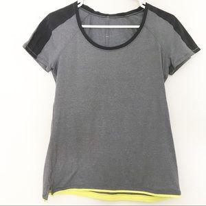 Lululemon Short Sleeved Gray Shirt Top